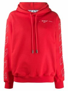 Off-White logo print hoodie - Red