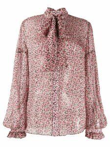 Wandering floral-print silk shirt - PINK