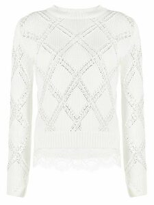 Ermanno Scervino crew neck jumper - White