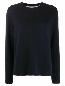 Chinti and Parker contrast ribbed-knit jumper - Blue