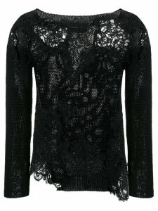 Ermanno Scervino lace panelled jumper - Black