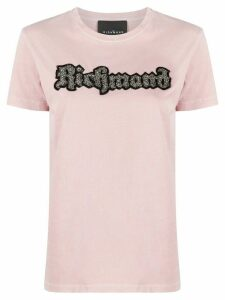 John Richmond embellished logo T-shirt - PINK