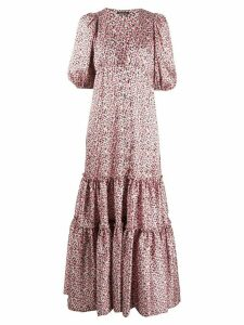 Wandering floral-print tiered dress - PINK