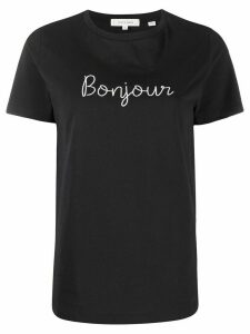 Chinti and Parker Bonjour embroidered T-shirt - Black