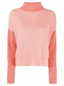 Chinti and Parker colour-block roll neck jumper - PINK