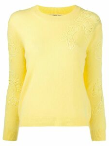 Ermanno Scervino cashmere embroidered jumper - Yellow