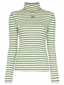 Loewe striped roll-neck top - Green