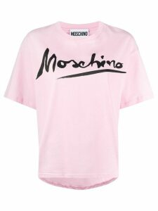 Moschino oversized logo-printed T-shirt - PINK