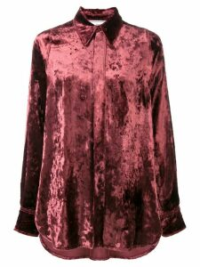 Ami Paris long velvet shirt - Red
