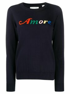 Chinti and Parker Amore intarsia jumper - Blue