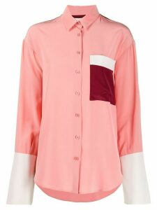 Chinti and Parker colour-block contrast shirt - PINK