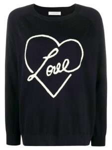 Chinti and Parker Love heart motif jumper - Blue