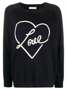 Chinti and Parker Love heart motif jumper - Blue
