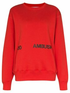 AMBUSH logo-print cotton sweatshirt - Red