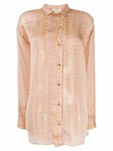 Forte Forte Mozaik shirt - NEUTRALS
