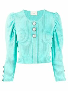 Giuseppe Di Morabito cropped puff-shoulder jumper - Green