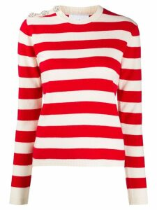 GANNI striped knit jumper - Red
