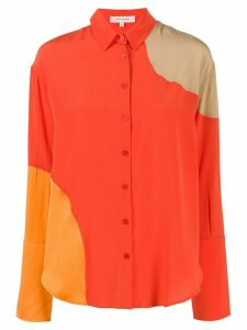 Chinti and Parker panelled loose-fit shirt - ORANGE