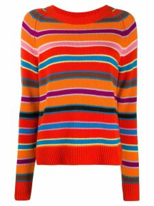 Chinti and Parker Multi-Stripe cashmere jumper - Red