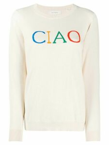 Chinti and Parker Ciao intarsia jumper - White