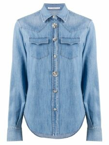 Ermanno Scervino crystal button denim shirt - Blue