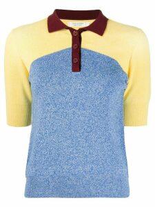 Chinti and Parker organic-cotton polo t-shirt - Blue