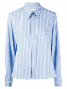 Ami Paris Classic-wide Fit Shirt With Chest Pocket - Blue