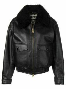 Ami Paris oversized zipped jacket - Black