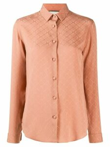 Gucci logo-jacquard silk shirt - PINK
