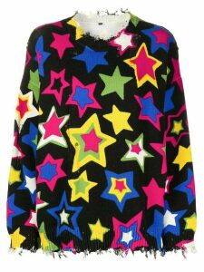 R13 Stars oversized jumper - Black
