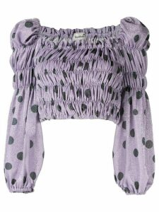 Bambah polka dot elasticated top - PURPLE