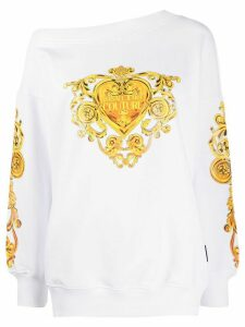 Versace Jeans Couture baroque logo print sweatshirt - White