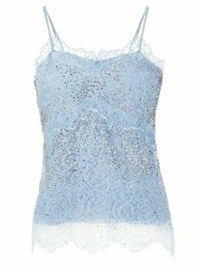 Ermanno Scervino floral lace camisole top - Blue