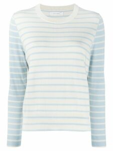 Chinti and Parker Breton striped jumper - White