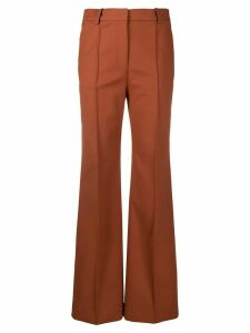 Joseph flared loose-fit trousers - Brown