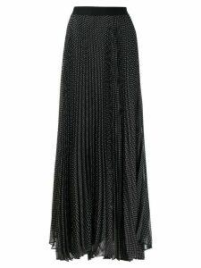 Alice+Olivia polka dot pleated skirt - Black