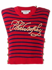 Philosophy Di Lorenzo Serafini knitted striped top - Red