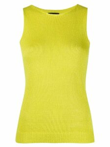 Theory sleeveless knitted top - Yellow