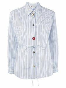 Ports 1961 multi-button pinstriped shirt - White
