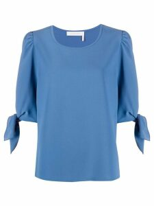 See by Chloé tied cuffs blouse - Blue
