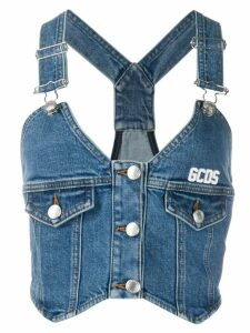 Gcds buttoned denim top - Blue