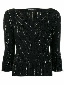 Ermanno Scervino embellished fitted jumper - Black