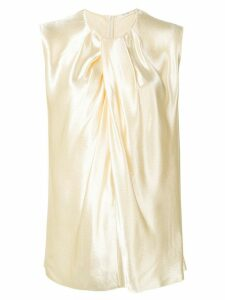 The Row Shira hammered-satin blouse - Yellow
