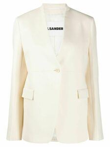 Jil Sander structured one-button blazer - NEUTRALS