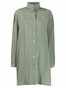 Lemaire high collar silk dress - Green