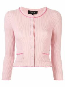 Paule Ka contrast piping cardigan - PINK