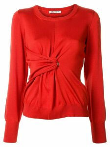 Ports 1961 twisted-waist sweater - Red