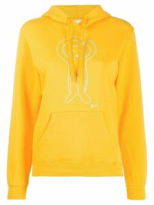 Société Anonyme cartoon print hoodie - Yellow
