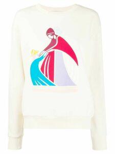 LANVIN logo print sweatshirt - NEUTRALS