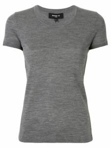 Paule Ka knitted round-neck T-shirt - Grey